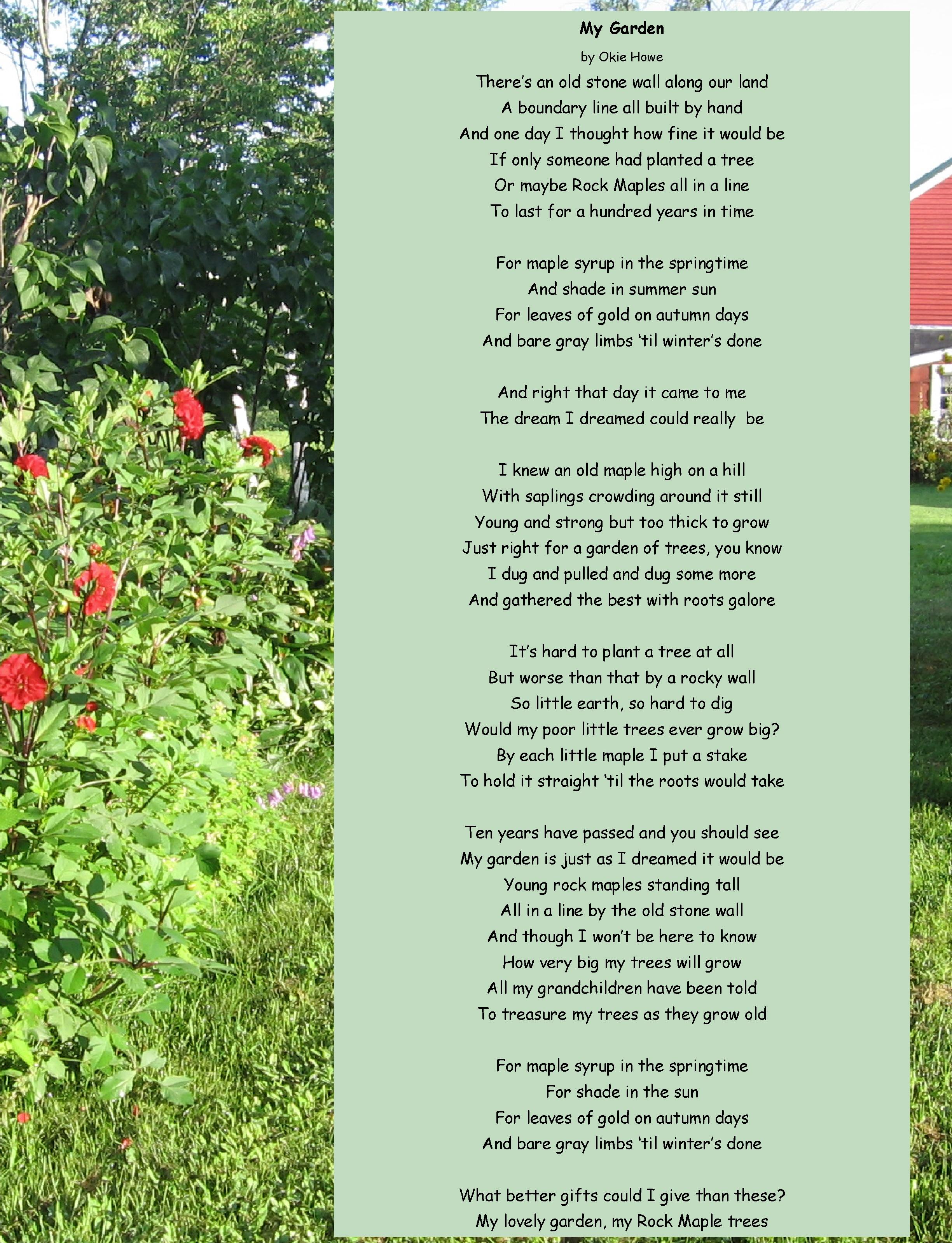 my garden essay writing