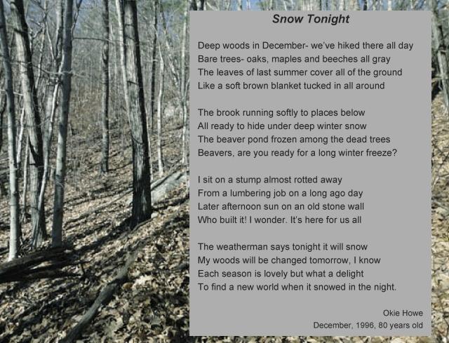 okie poem snow tonight