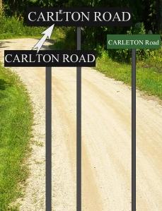 Okie Carleton Road sign 4