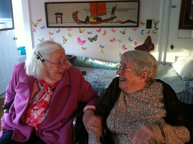 Okie and Kay on Kay's 95th birthday, November 18