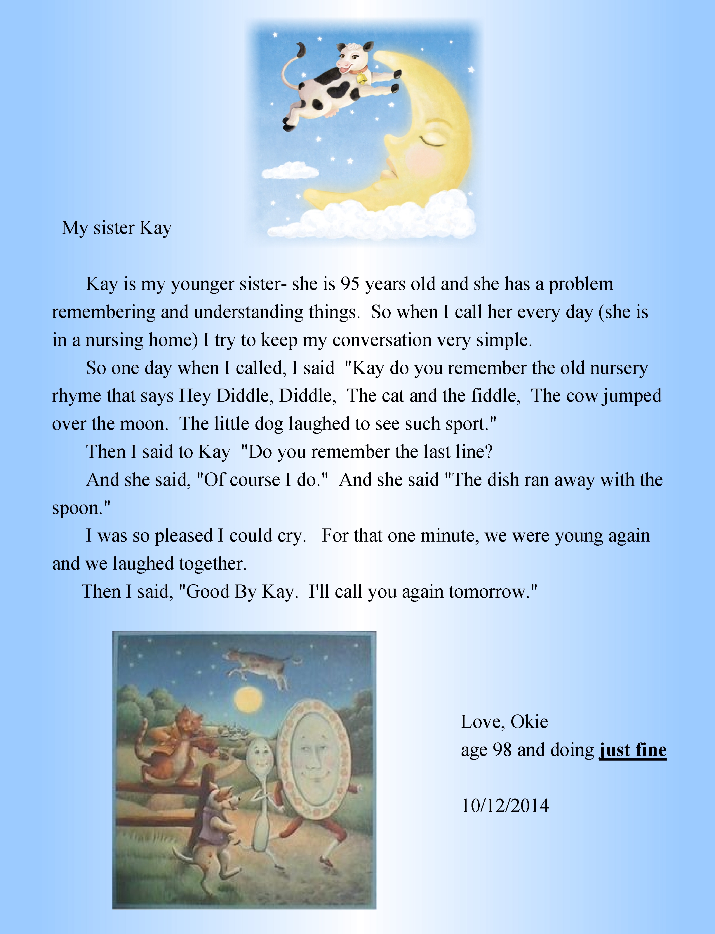 Uncategorized Cow Poems 98 years old and still writing okies poems a collection of okie hey diddle the cat fiddle cow jumped over moon