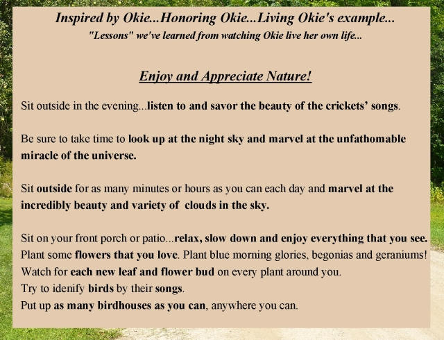 Okie Honoring Okie Enjoy and appreciate Natur