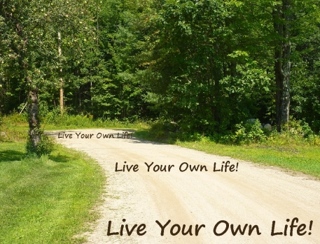 Okie Honoring Okie Live Your Own Life along the roadway