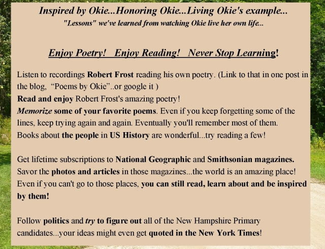 Okie Honoring Okie Poetry reading learning quoting