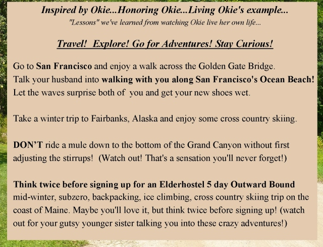 Okie Honoring Okie travel explore adventure stay curious