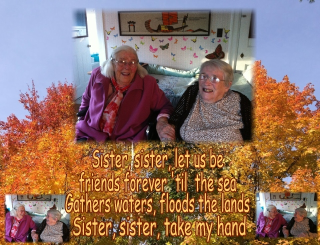 Kay and Okie sister sister take my hand